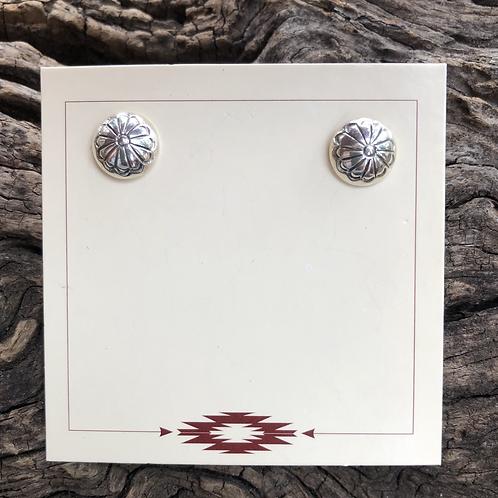 Small Navajo sterling silver stud earrings.