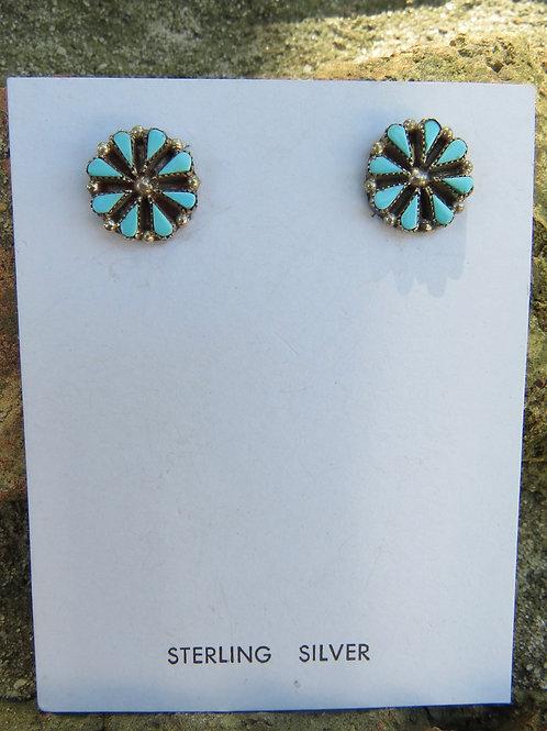 Zuni fine petit point cluster stud earrings