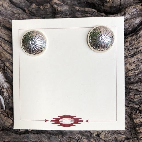Navajo stamped sterling silver earrings.