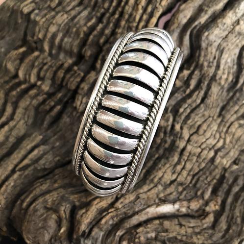 Sterling silver cuff handmade by Navajo Priscilla Apache.