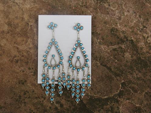 Zuni Petit Point dangle earrings by Wayne Johnson