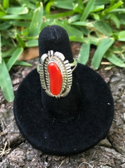 Coral Ring Size 5 - 74R