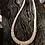 "Thumbnail: Melon shell wafer cut heshi necklace, 18"" long."