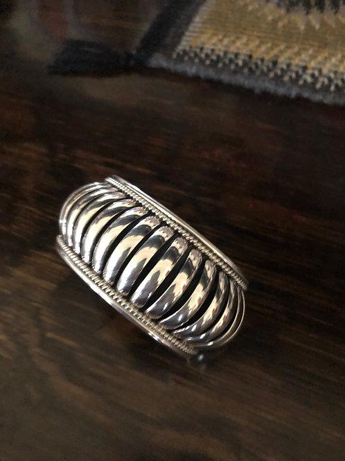 Sterling silver cuff by Priscilla Apache