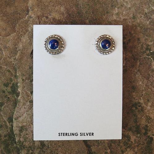 Small lapis stud earrings