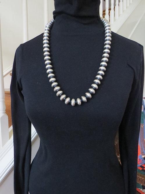 "28"" sterling silver Navajo pearls by Jan Mariani"