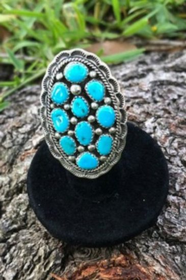 Turquoise ring size 5.5 - 41R