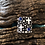 Thumbnail: Sterling silver cross and lapis ring by Navajo A. Douglas