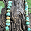 """Thumbnail: Sold- Beautiful natural turquoise bead necklace, 27"""" long $450."""