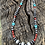 """Thumbnail: Coral and turquoise necklace with Navajo pearls hand stamped beads 22"""""""