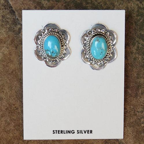 Navajo turquoise stud earrings
