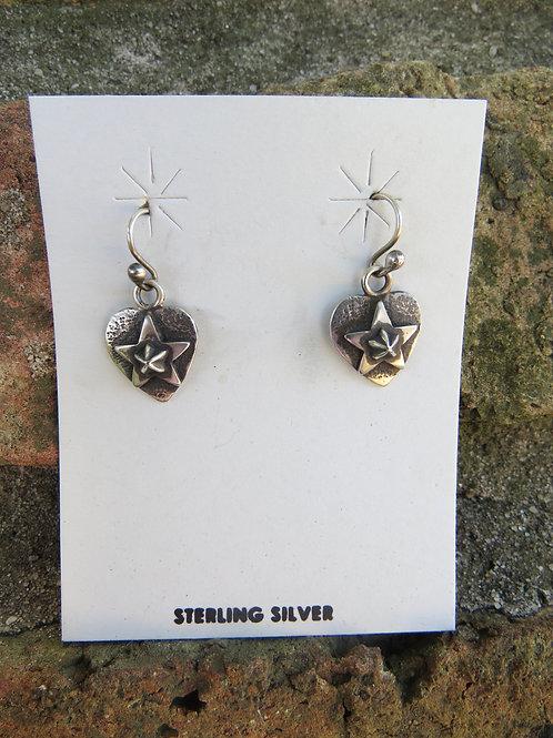 Heart and Star earrings