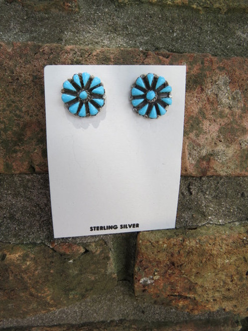 Sold- Zuni turquoise stud earrings $45.