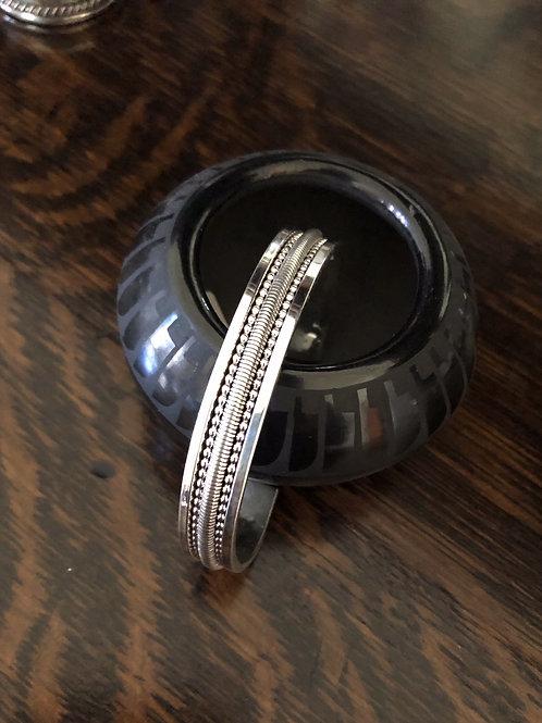 Sterling silver Navajo cuff