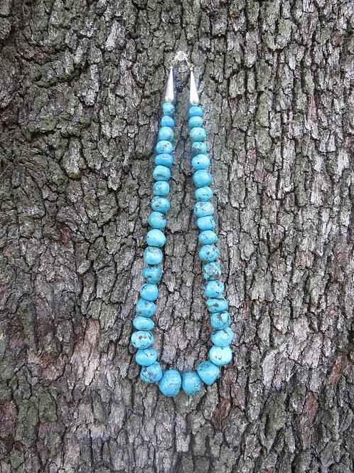 """Turquoise necklace by Richard Abeyta. 26"""""""