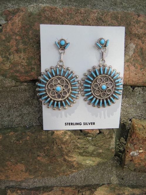 Zuni needlepoint earrings