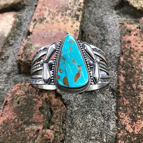 Single stone turquoise cuff #38