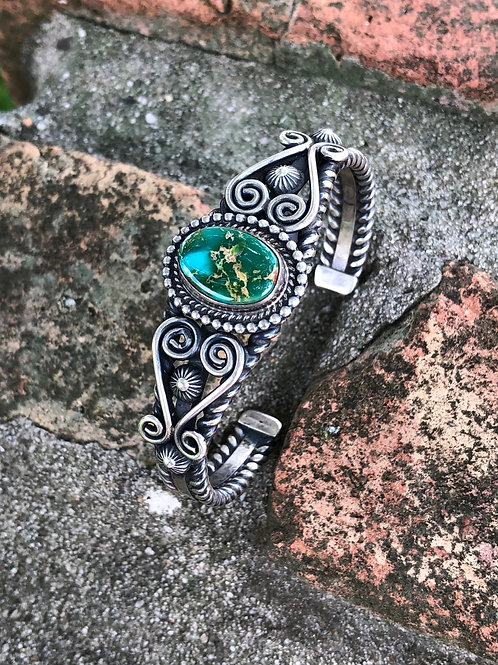 Vintage turquoise cuff #9