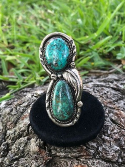Turquoise ring size 6.5 - 36R