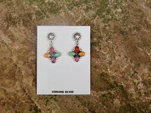 Multi stone earrings by Don Lucas