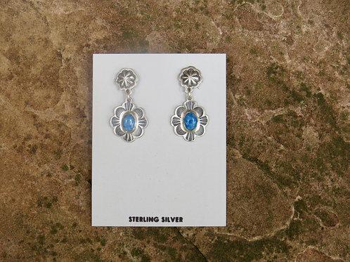 Denim Lapis dangle earrings by Don Lucas