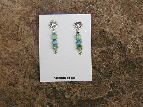 Silver with multi stone earrings by Don Lucas