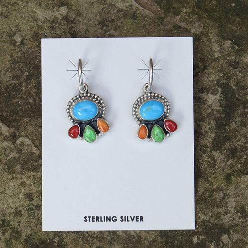 Multi-stone earrings by Don Lucas