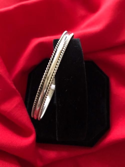 Sold- Navajo sterling silver bangle $60.