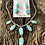 Thumbnail: Sterling silver and turquoise necklace and earring set