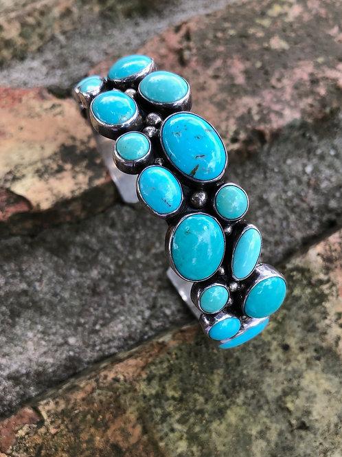 Multi stone turquoise cuff #42