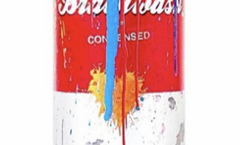 Tomato Spray Can (Light Blue) - Mr Brainwash.