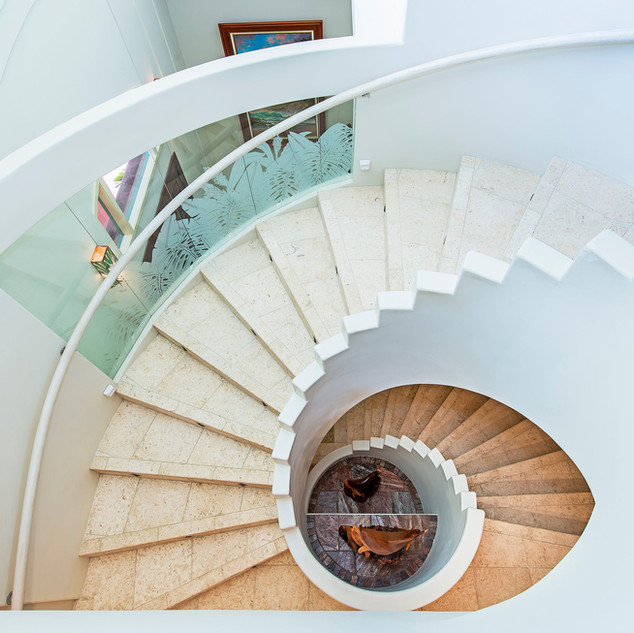 Royal Hawaiian Estate - Curved Staircase