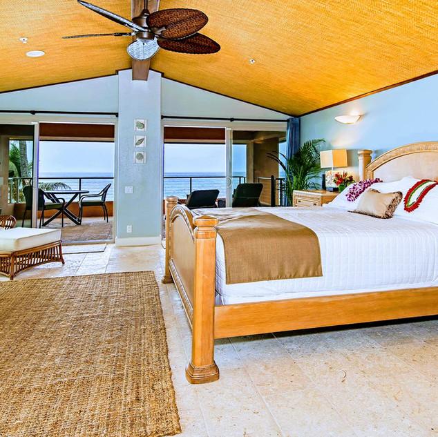 Royal Hawaiian Estate - Master bedroom ocean view