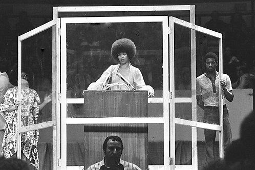 Angela Davis, Speaking at Madison Square Garden in 1975 By Leroy Henderson