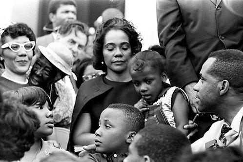 Coretta Scott- King w/ her kids By Leroy Henderson