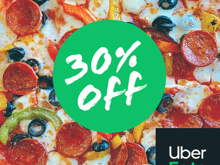 30% Off With Uber Eats!