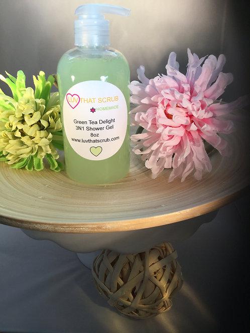 Green Tea Delight 3 N 1 Shower Gel