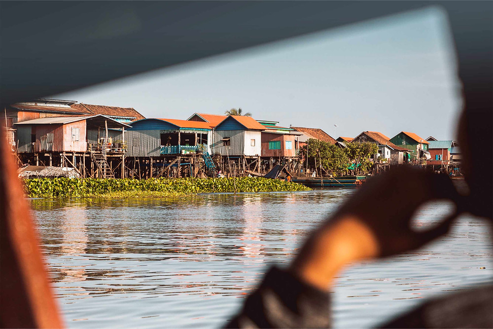 View of Kompong Khleang from the Boat