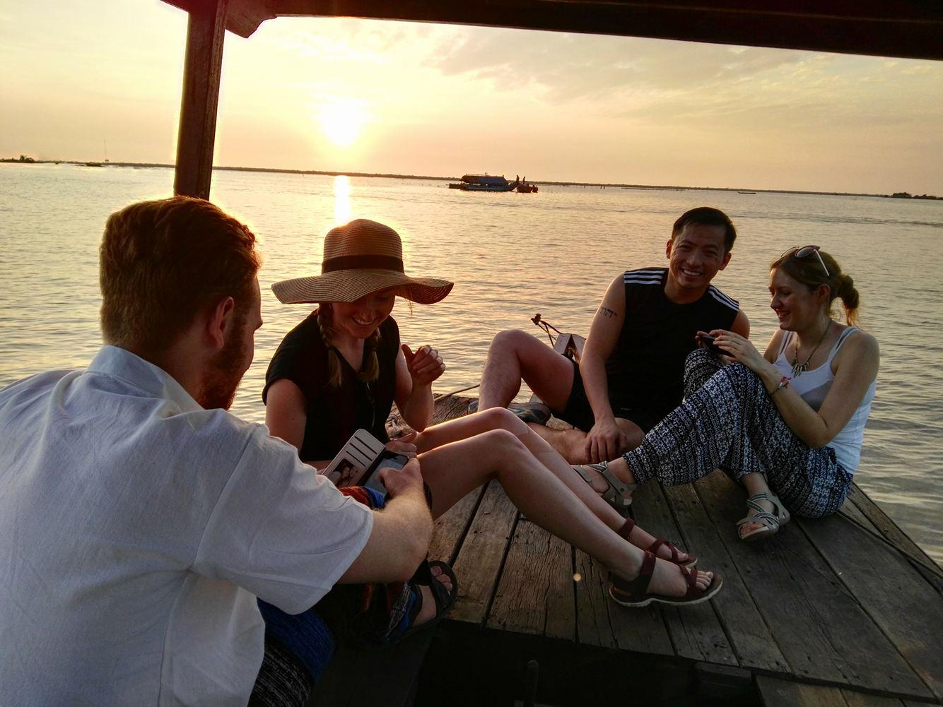 Tourists visiting Kompong Khleang
