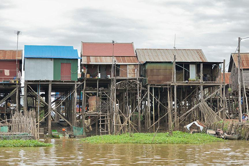 Kompong Khleang Floating Village Homes