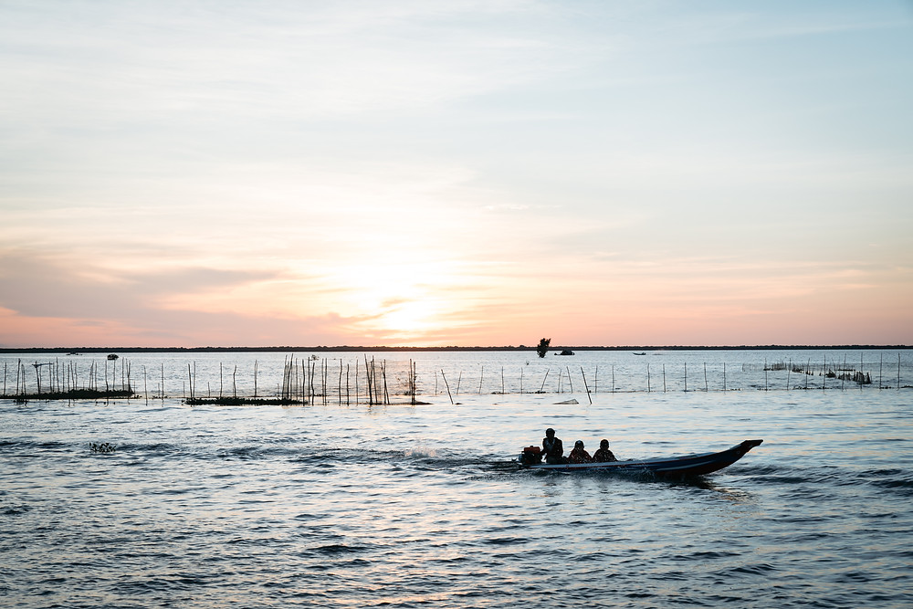 Siem Reap Floating Village Sunset