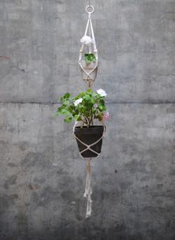 DIY Makramé Ampel i två våningar