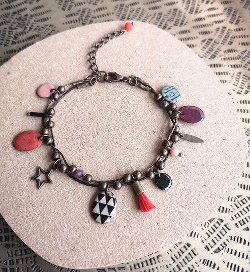 LCK - Bracelet en laiton et émail