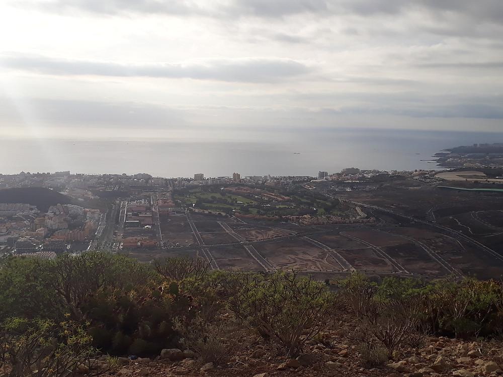 Utsikten från Montaña de Guaza