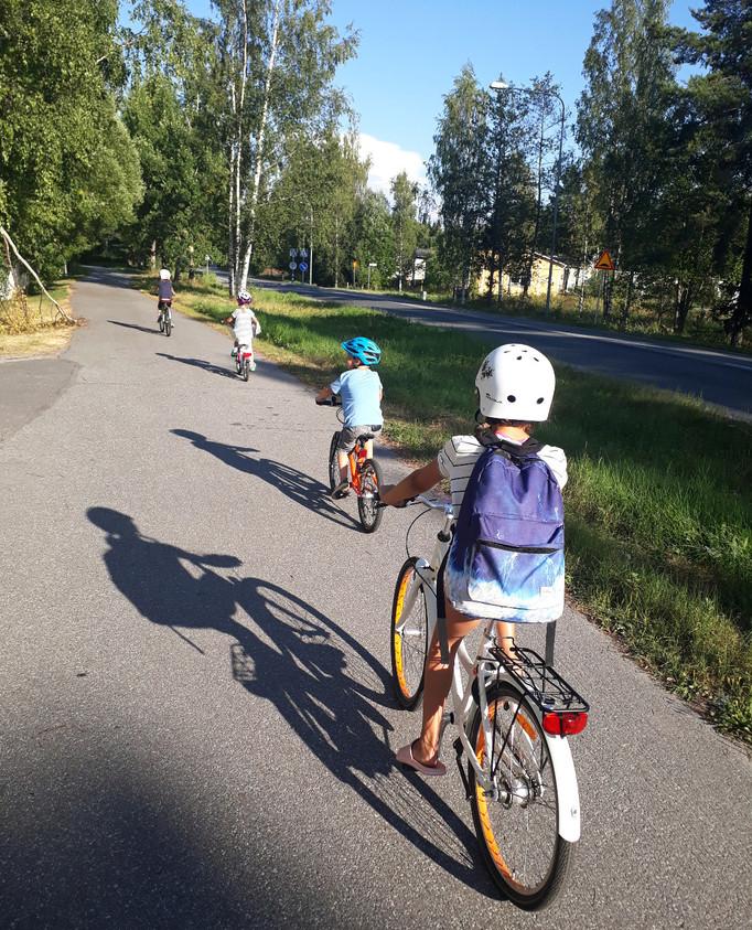 Cyklat mycket med barnen i veckan