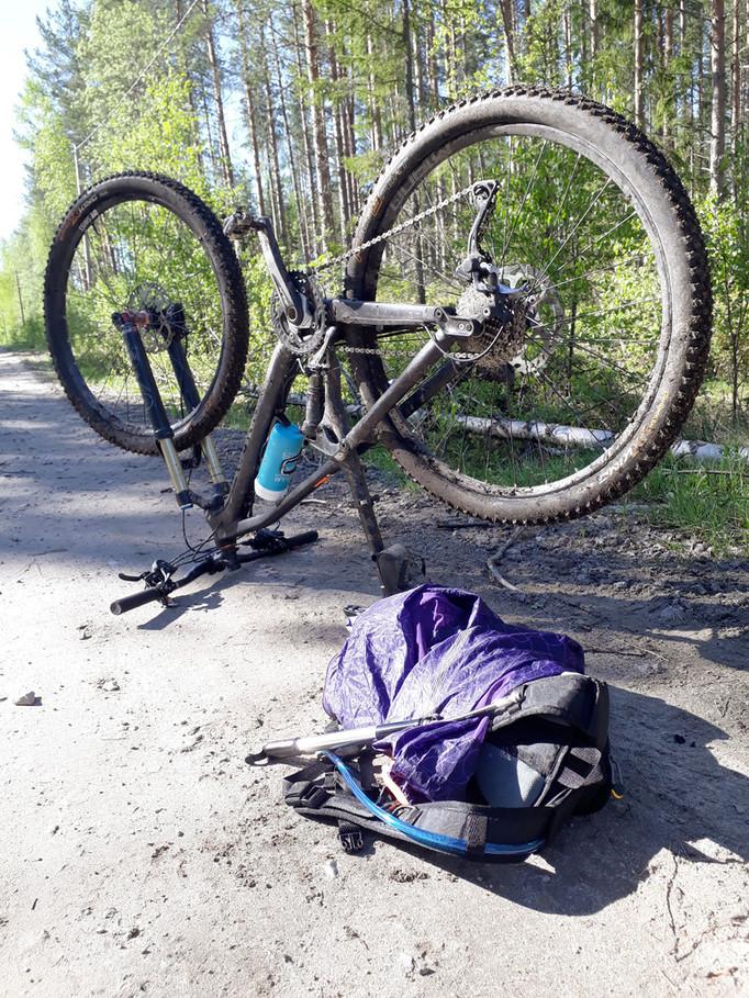 Nästan en halvdag på cykel