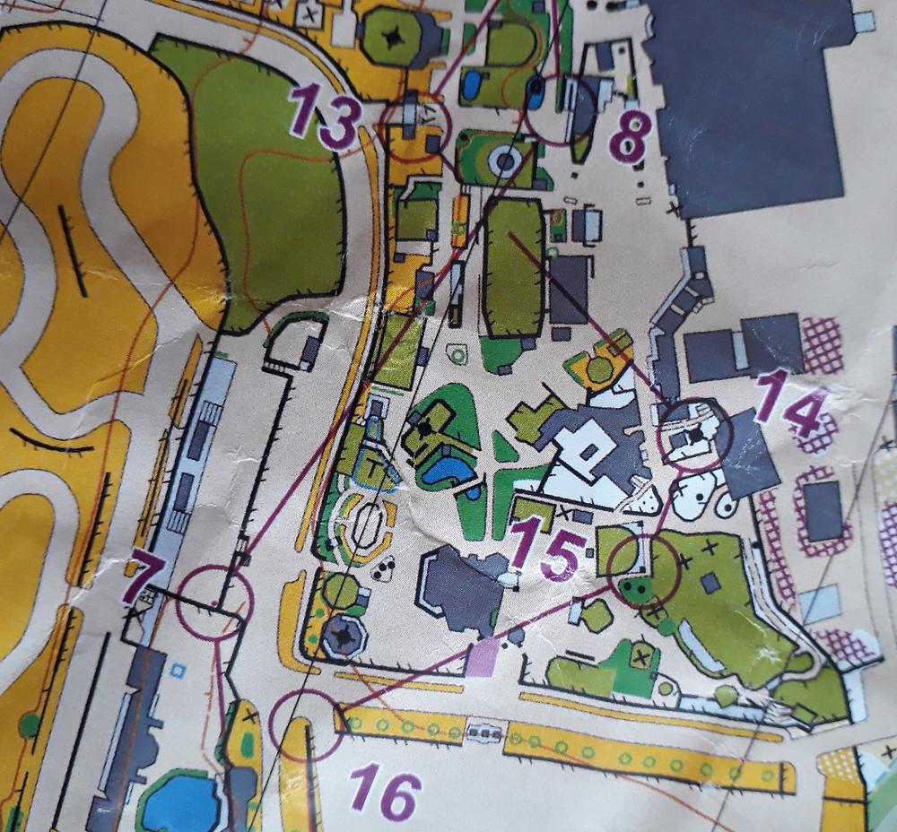 Kartbit från sprinten