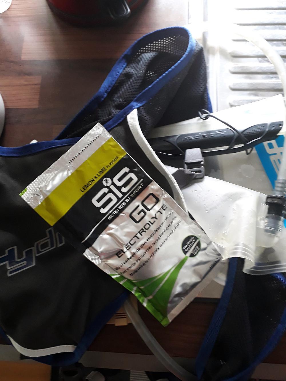 vätskeryggsäck och sportdryckspulver