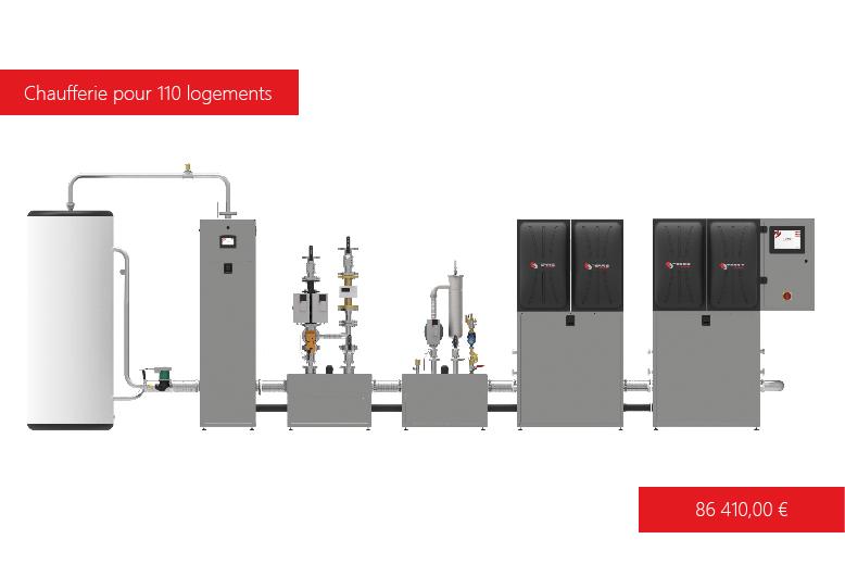 Solution de chauffage T-EASY 500 kW avec ECS Terris Energy