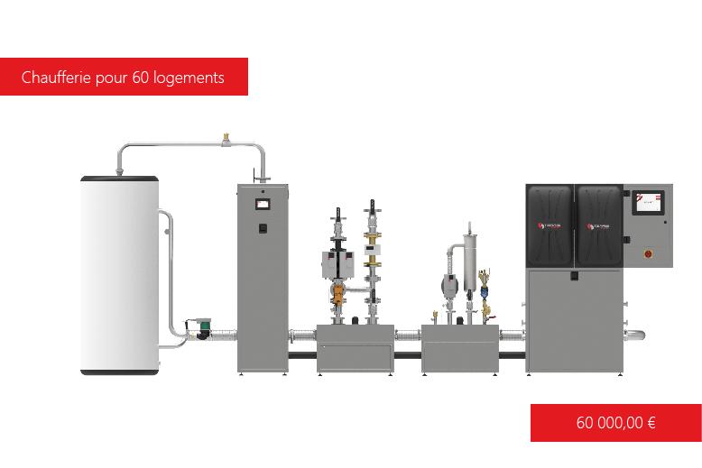 Solution de chauffage T-EASY 250 kW avec ECS  Terris Energy
